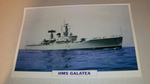 HMS Galatea 1963 British  warship framed picture